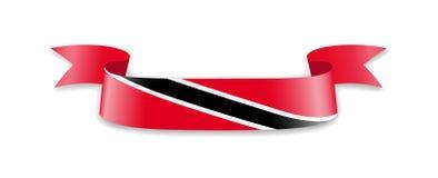 Bandeira de Trindade e Tobago sob a forma da fita da onda Foto de Stock