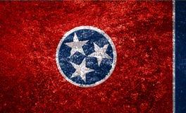 Bandeira de TTexture do estado de Tennessee em uma telha de mármore imagens de stock