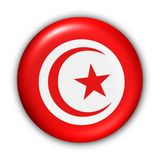 Bandeira de Tunísia Imagem de Stock Royalty Free
