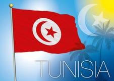 Bandeira de Tunísia Fotografia de Stock Royalty Free