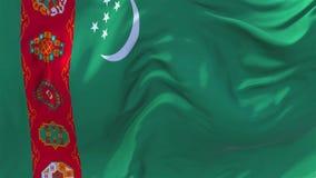 Bandeira de Turquemenistão que acena no fundo sem emenda contínuo do laço do vento ilustração royalty free
