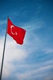 Bandeira de Turquia foto de stock royalty free