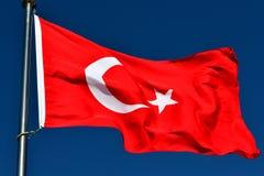 A bandeira de Turquia Foto de Stock