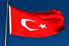 A bandeira de Turquia Fotos de Stock Royalty Free