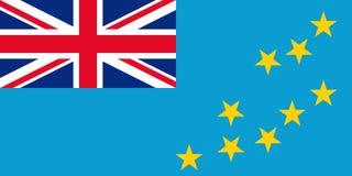 Bandeira de Tuvalu Ilustração do vetor Sinal nacional oficial do estado ilustração do vetor