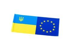 A bandeira de Ucrânia Fotos de Stock Royalty Free
