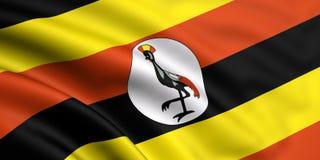 Bandeira de Uganda Imagens de Stock Royalty Free