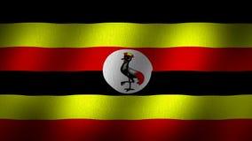 Bandeira de Uganda Fotografia de Stock