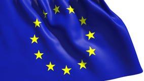 Bandeira de união de ondulação de Europa ilustração royalty free