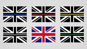 Bandeira de Union Jack do Reino Unido ilustração do vetor