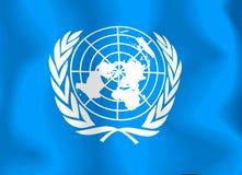 Bandeira de United Nations Imagens de Stock