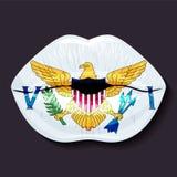 Bandeira de United States Virgin Islands Imagens de Stock