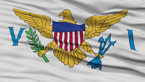 Bandeira de United States Virgin Islands do close up Fotos de Stock