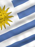 Bandeira de Uruguai Fotos de Stock Royalty Free