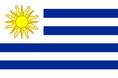 Bandeira de Uruguai Fotografia de Stock