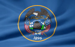Bandeira de Utá Fotografia de Stock Royalty Free