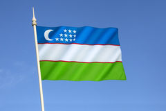 Bandeira de Uzbekistan Imagens de Stock Royalty Free