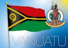 Bandeira de Vanuatu Imagem de Stock Royalty Free