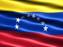Bandeira de Venezuela Fotografia de Stock