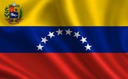 Bandeira de Venezuela Parte da série Foto de Stock