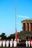 Bandeira de Vietnam na manhã Imagens de Stock Royalty Free