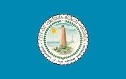 Bandeira de Virginia Beach em Virgínia, EUA foto de stock royalty free
