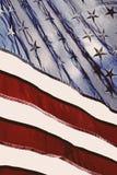Bandeira de vista velha fotografia de stock