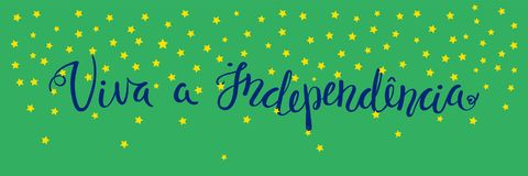 Bandeira de Viva Independence Portuguese ilustração do vetor