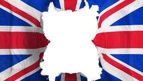 Bandeira de voo BRITÂNICA rasgada de Reino Unido ilustração do vetor