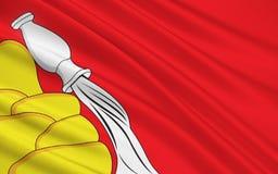 Bandeira de Voronezh Oblast, Federação Russa Ilustração Royalty Free