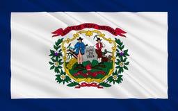 Bandeira de West Virginia, EUA ilustração stock