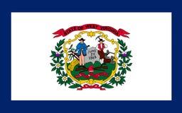 Bandeira de West Virginia, EUA fotos de stock royalty free