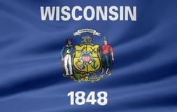 Bandeira de Wisconsin Fotos de Stock Royalty Free