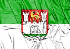 Bandeira de Wolfsburg Baixa Saxónia, Alemanha ilustração 3D Foto de Stock Royalty Free