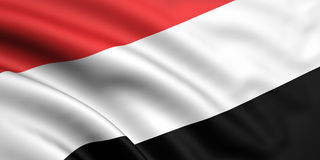 Bandeira de Yemen Fotografia de Stock