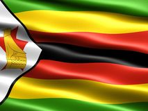 Bandeira de Zimbabwe Imagens de Stock