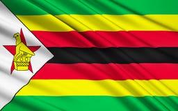 Bandeira de Zimbabwe, Harare ilustração do vetor