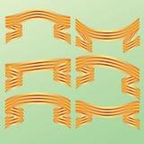 Bandeira decorativa da fita da cor. Foto de Stock