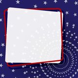 Bandeira decorativa em um quadro em um fundo um teste padrão do elemento das estrelas para o projeto de bandeiras dos cartazes do ilustração do vetor