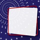 Bandeira decorativa em um quadro em um fundo um teste padrão do elemento das estrelas para o projeto de bandeiras dos cartazes do ilustração royalty free