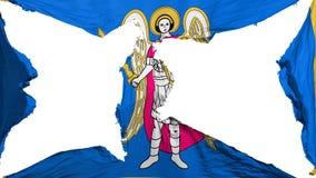 Bandeira destruída de Kyiv Kiev imagens de stock royalty free