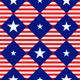 Bandeira Diamond Chessboard Background dos EUA da listra das estrelas Imagens de Stock