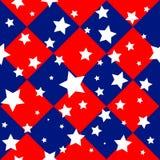 Bandeira Diamond Chessboard Background dos EUA das estrelas Imagem de Stock Royalty Free