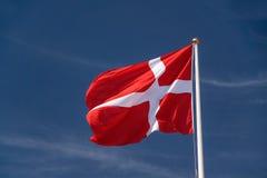 Bandeira dinamarquesa Imagens de Stock Royalty Free