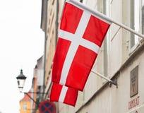 Bandeira dinamarquesa fotografia de stock