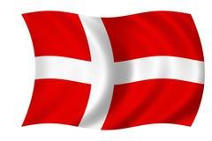 Bandeira dinamarquesa Imagens de Stock