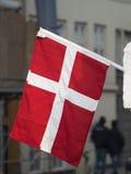 Bandeira dinamarquesa Fotos de Stock Royalty Free