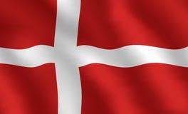 Bandeira dinamarquesa ilustração stock