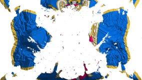 Bandeira dispersada de Kyiv Kiev ilustração royalty free