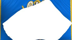 Bandeira dividida de Kyiv Kiev ilustração royalty free